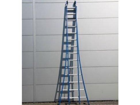 DAS Atlas 'Blue' dubbele ladder - gecoat 3,80m tot 6,50m
