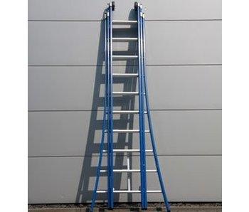 DAS Atlas 'Blue' 3-delige ladder - gecoat 4,25m tot 10,25m