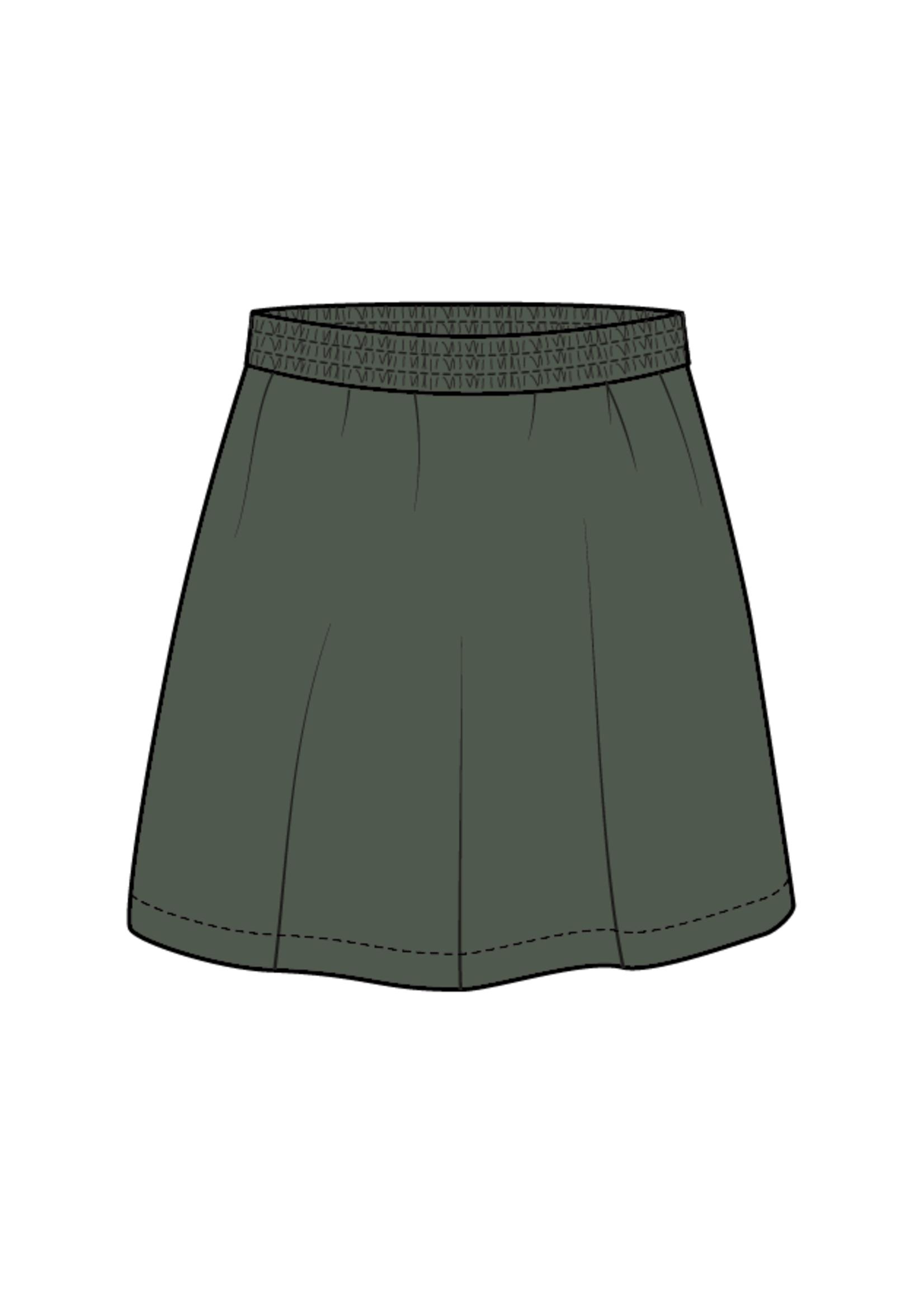 Blossom Kids Velvet Midi Skirt - Sage