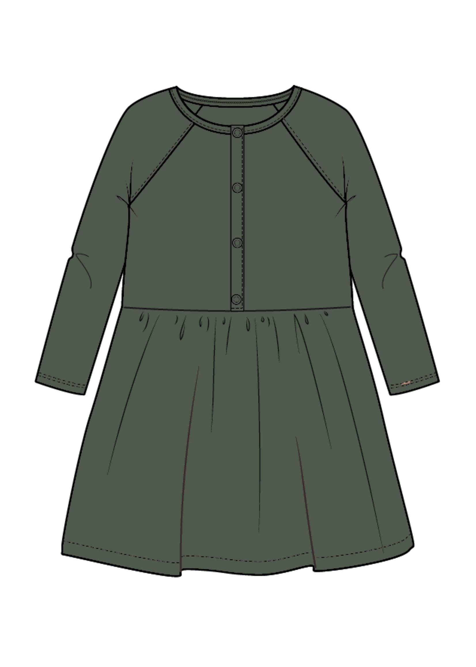 Blossom Kids Velvet dress - Sage