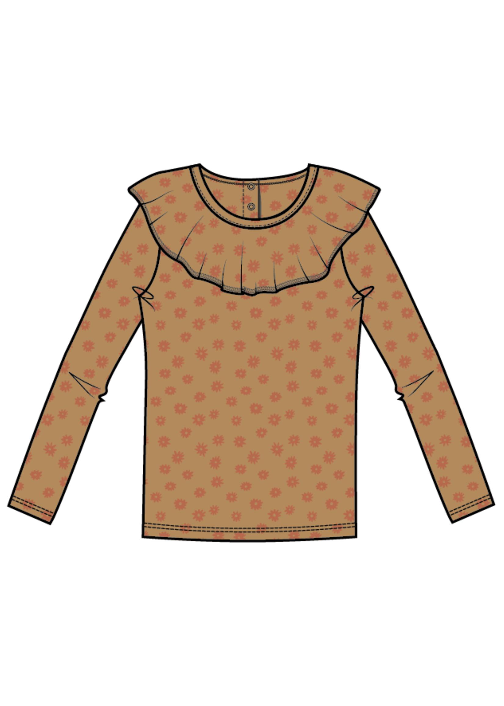 Blossom Kids Long sleeve shirt with volan collar - Winter Flower