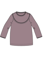 Blossom Kids Tunic with lace - Dusty Violet