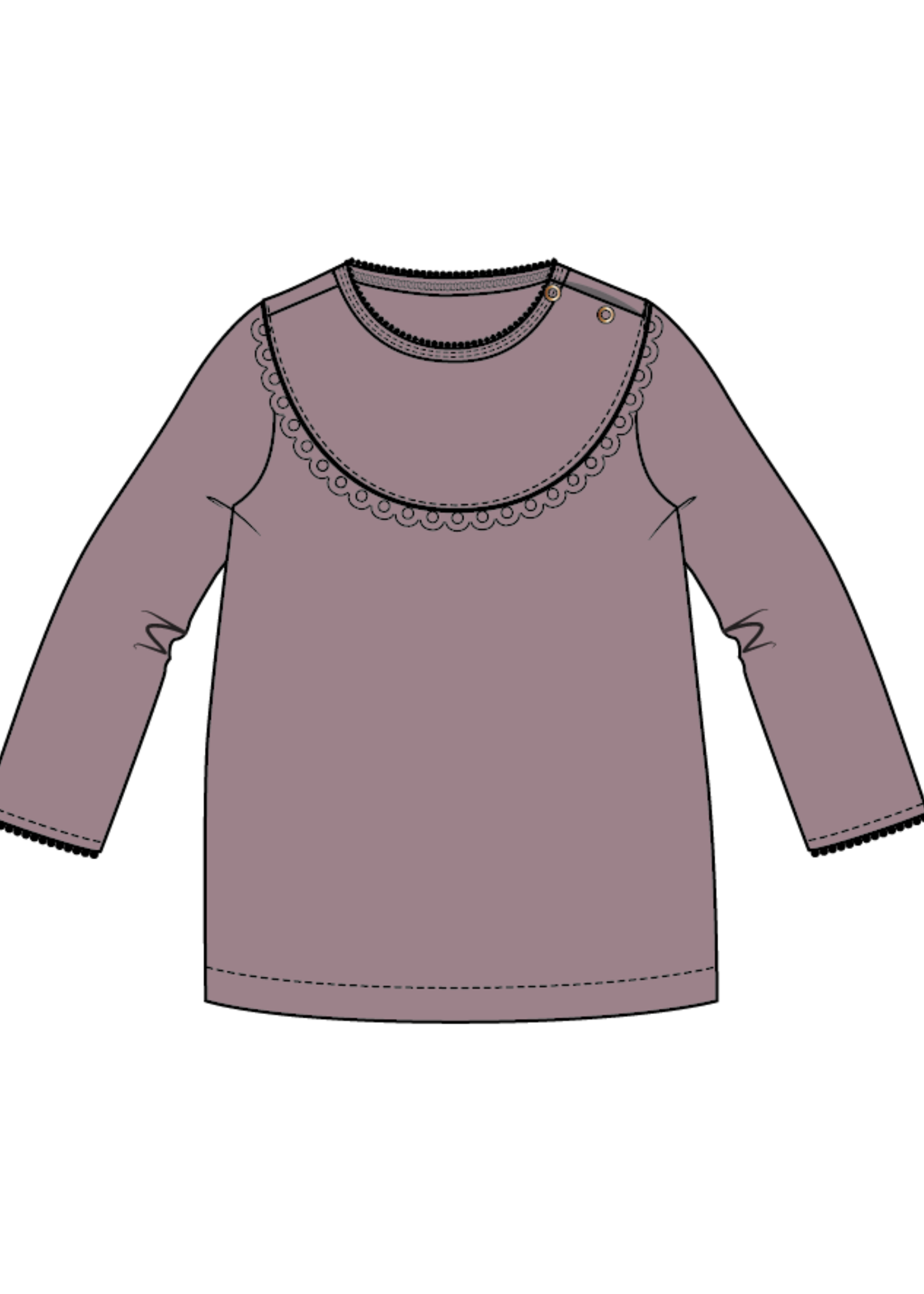 Blossom Kids Baby tunic with lace - Dusty Violet