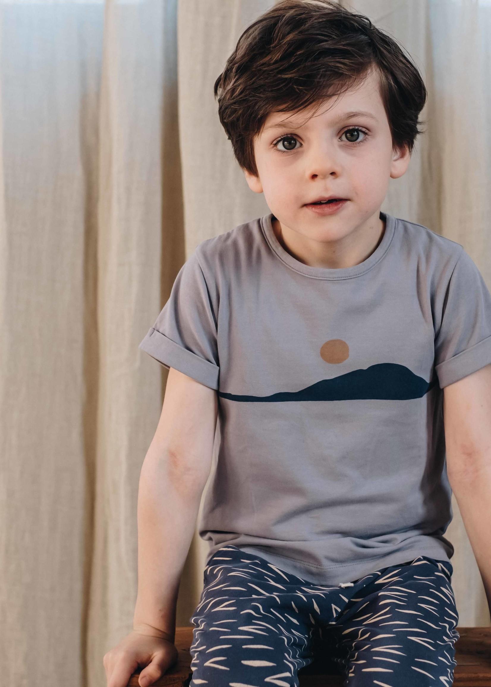 Blossom Kids T-shirt Sunset - lilac grey