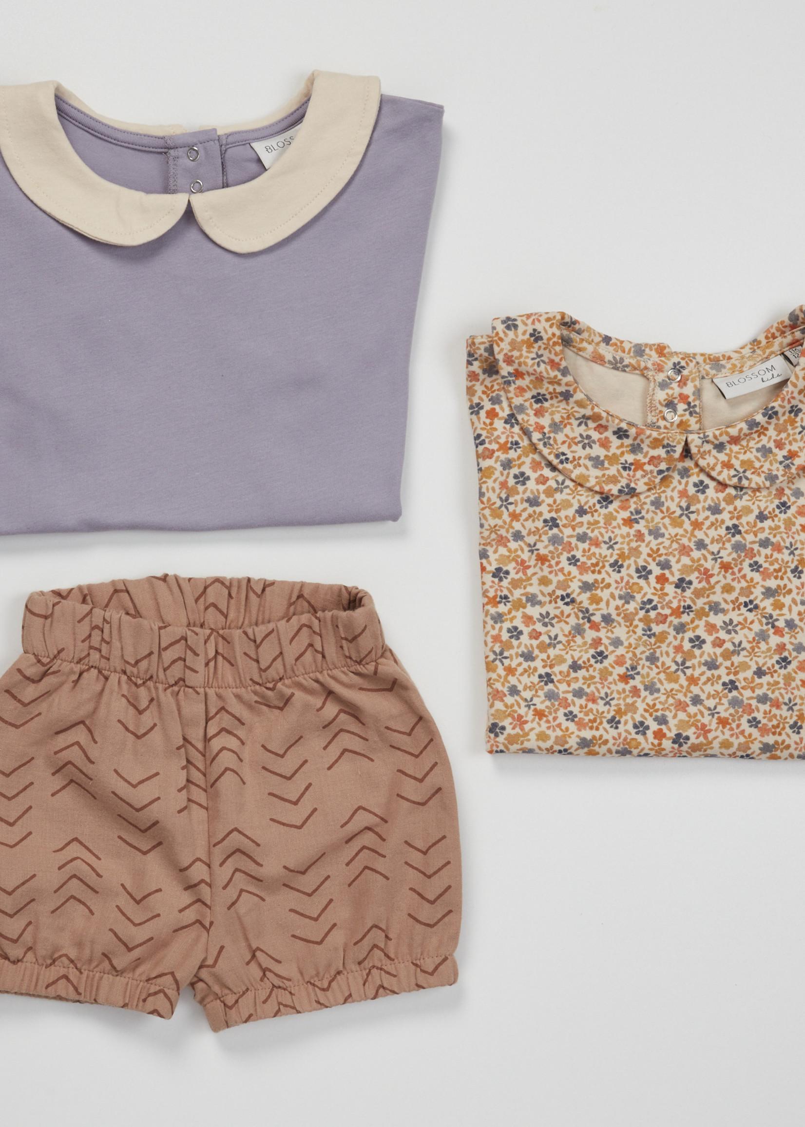 Blossom Kids Peterpan shirt short sleeve - Lavender Gray