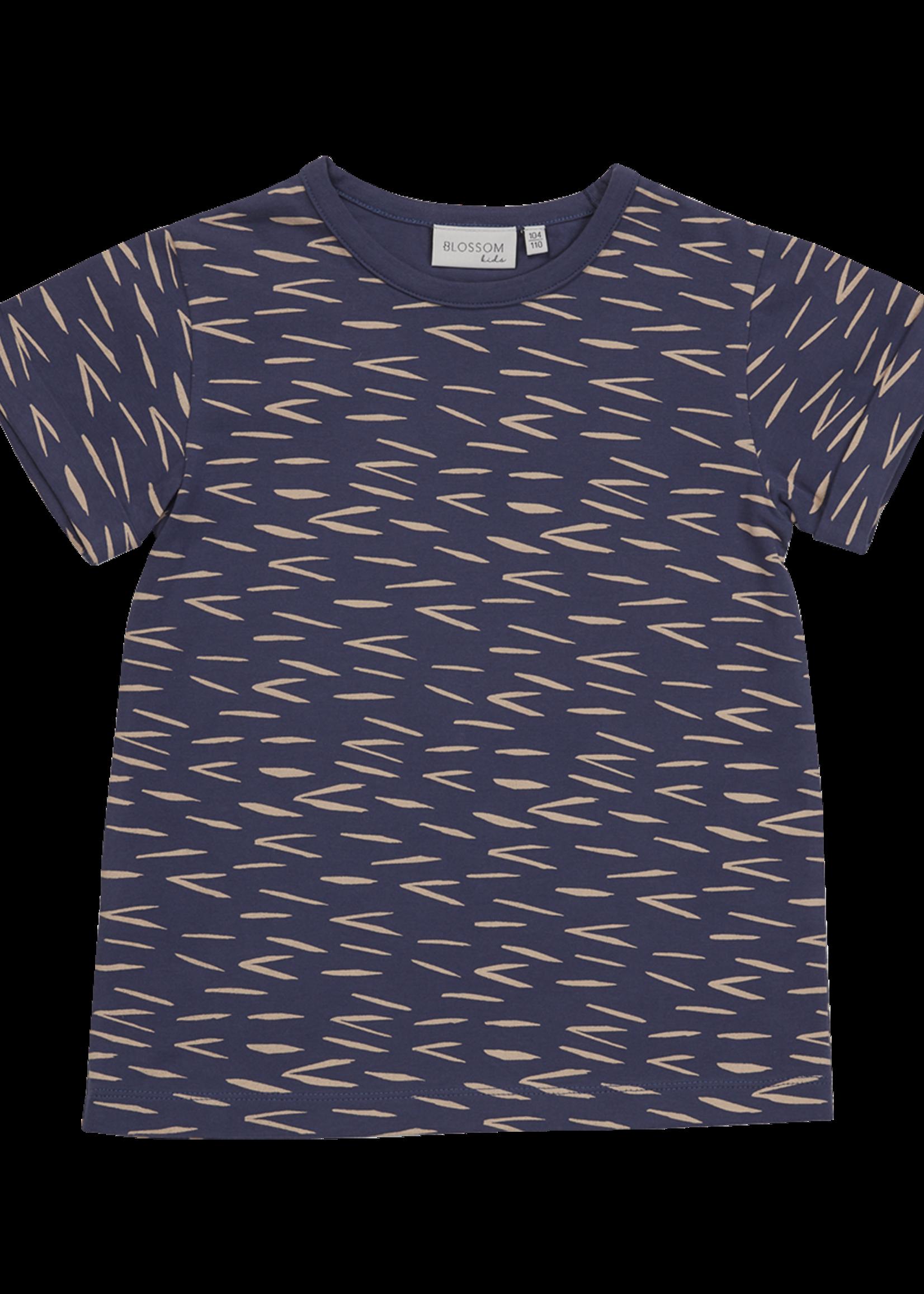 Blossom Kids T-shirt Zig Zag - Royal Blue