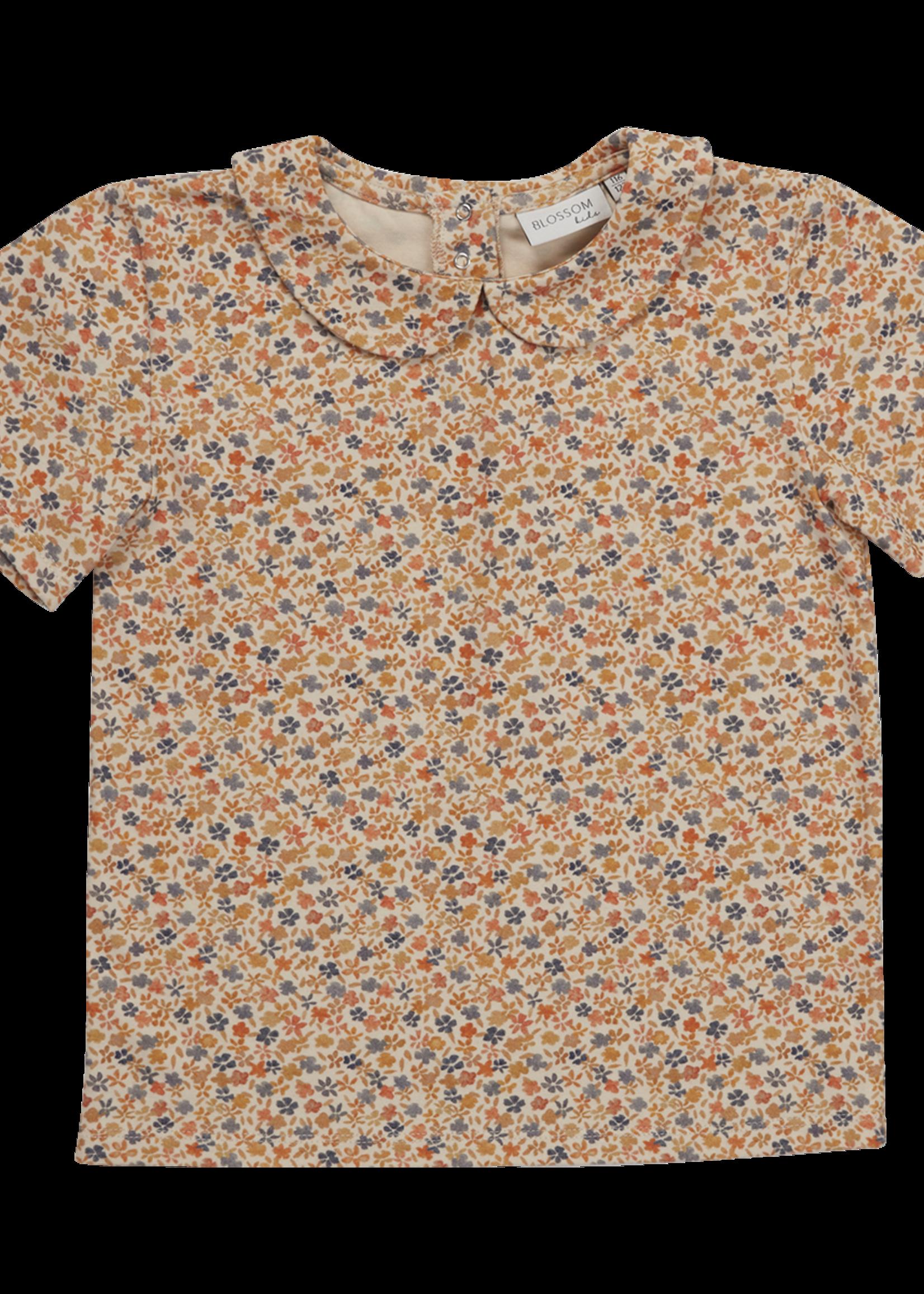 Blossom Kids Peterpan shirt short sleeve - Aquarel Flower