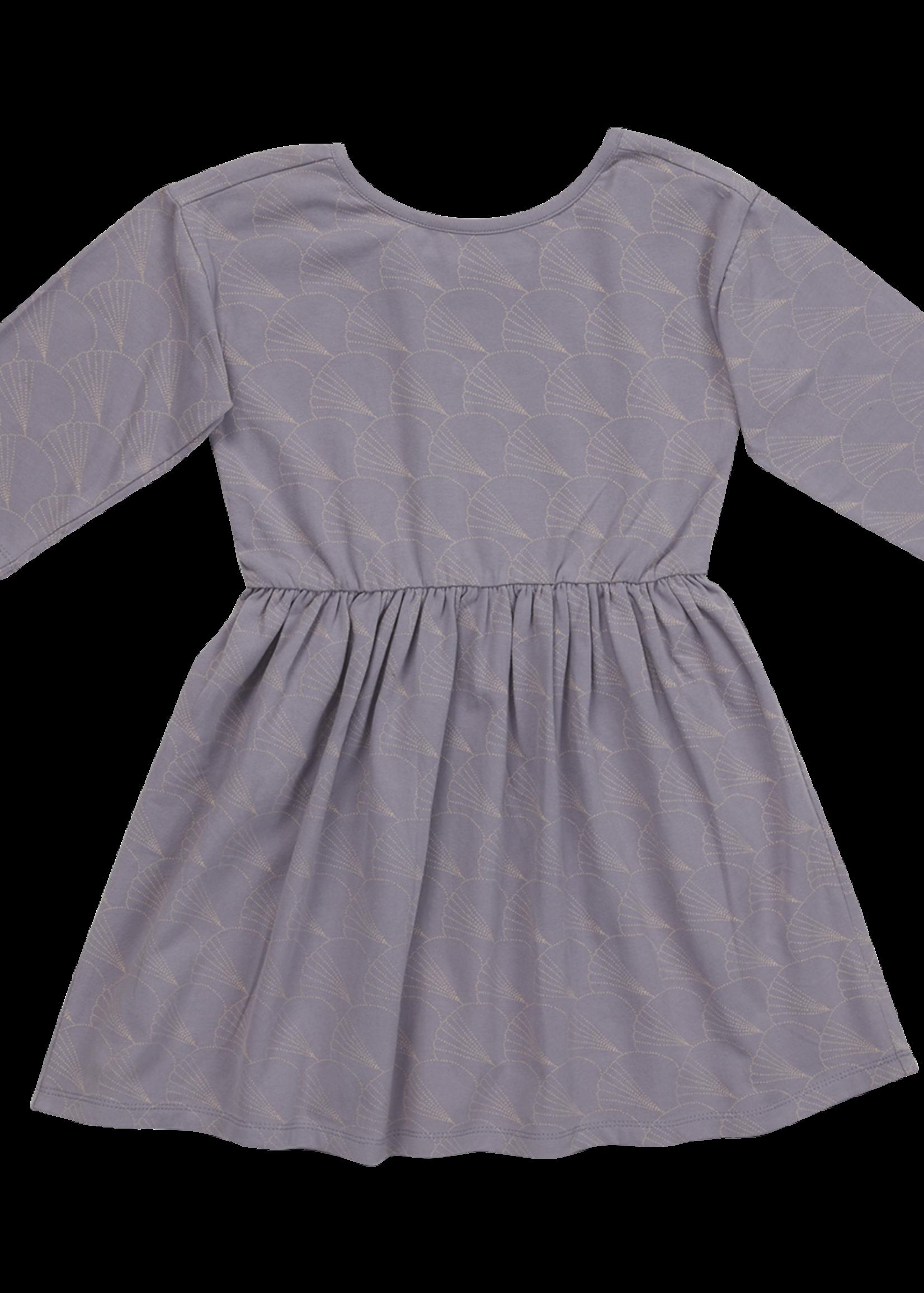 Blossom Kids Dress half sleeve - Shelves - Lavender Gray