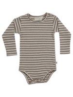 Blossom Kids Body long sleeve - Stripes - Cinnamon