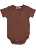 Blossom Kids Body short sleeve with buttons - Hazelnut