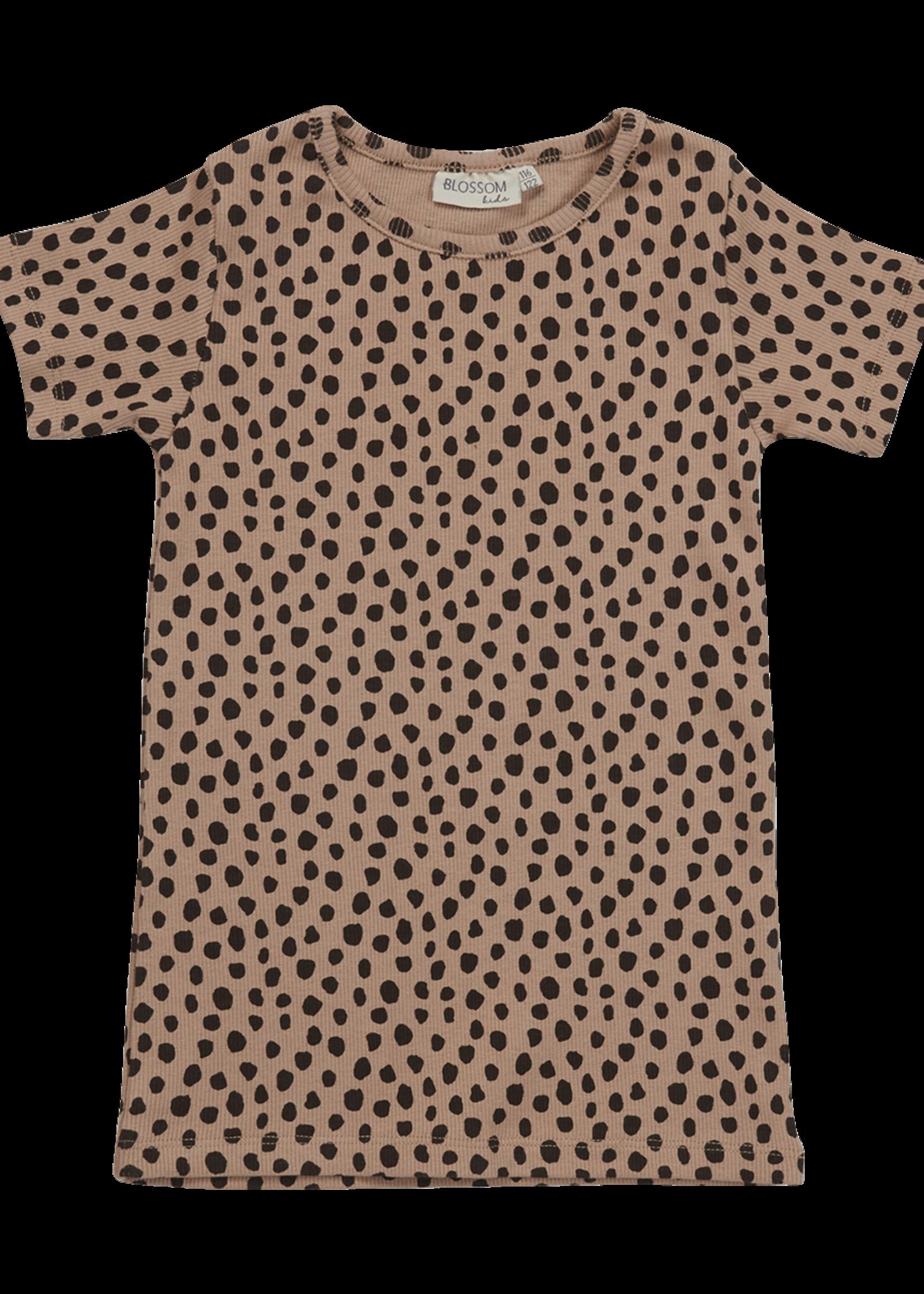 Blossom Kids Short sleeve shirt - Animal Dot - warm sand