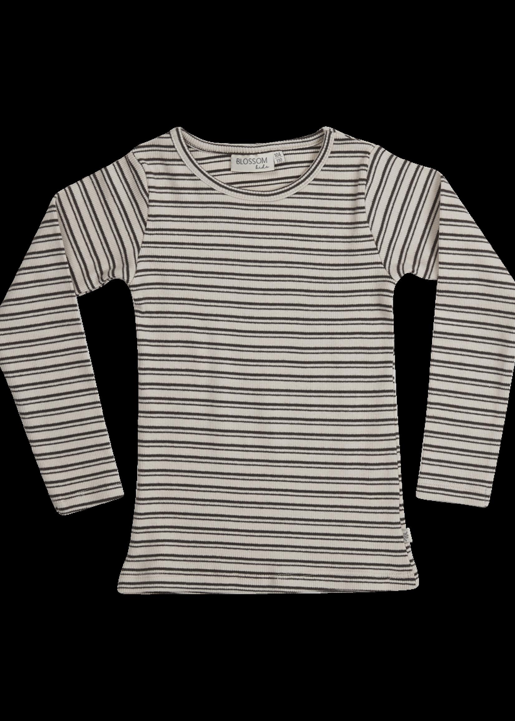 Blossom Kids Long sleeve - Stripes - Cinnamon
