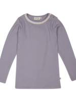 Blossom Kids Long sleeve shirt with lace - Lavender Gray