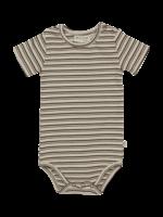 Blossom Kids Body short sleeve - Stripes - Cinnamon