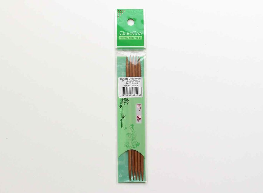 Chiagoo, bamboo double pointed needles patina