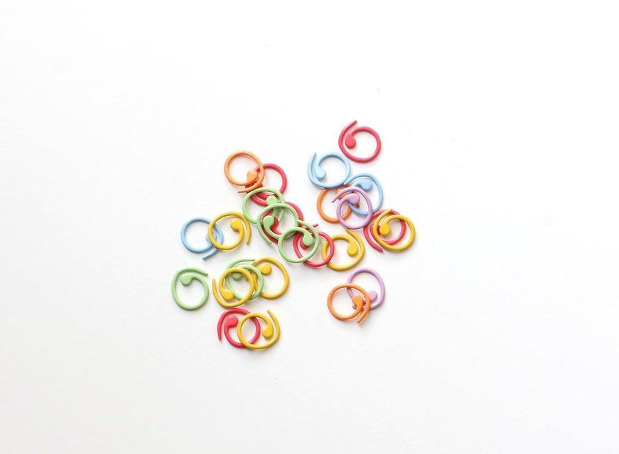 Cocoknits, split ring markers coloured