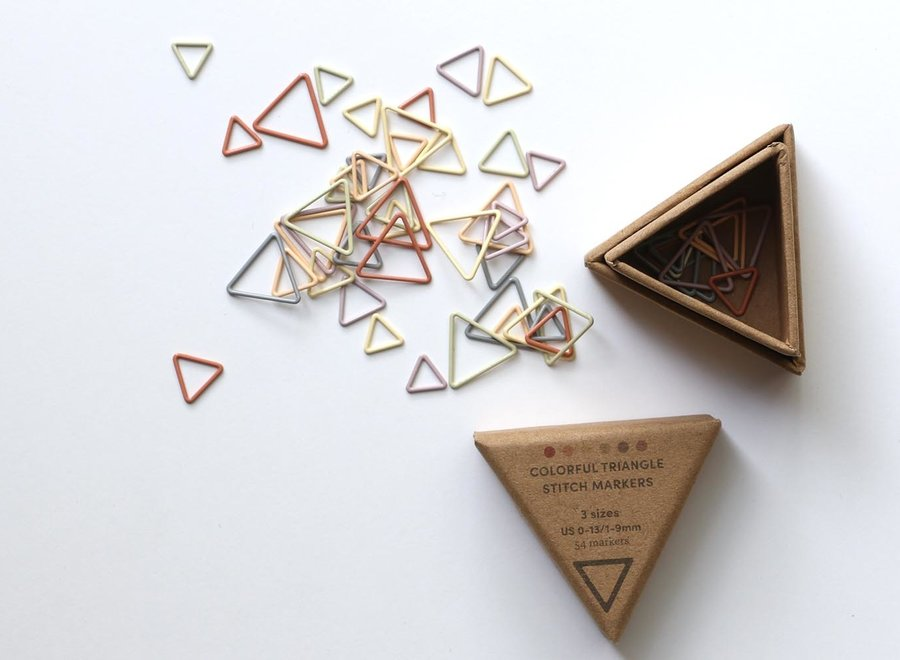 Cocoknits, triangle earth tones markers