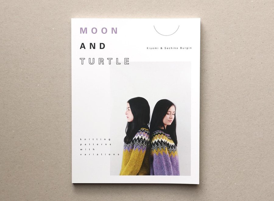 moon and turtle - knitting patterns with variations