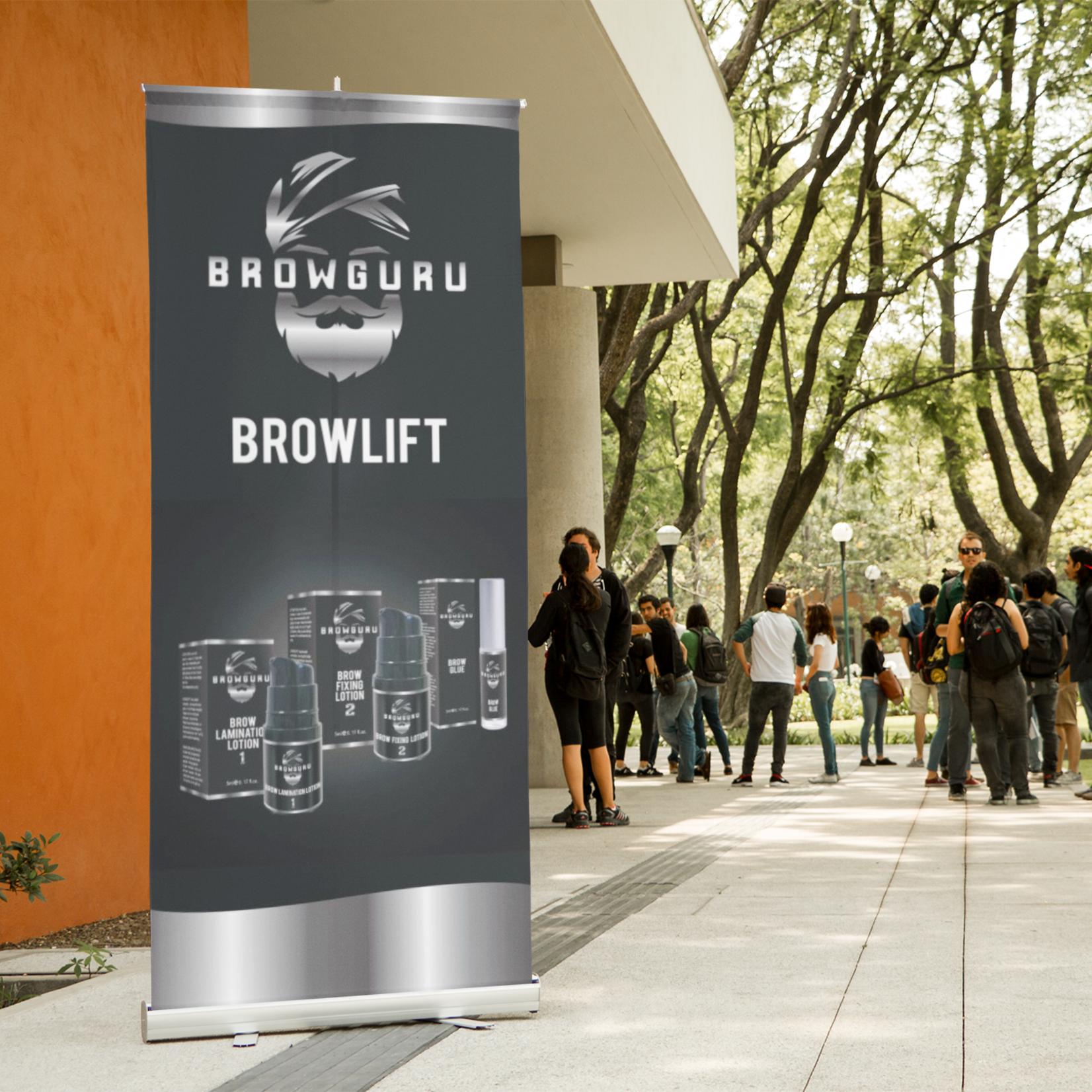 Browguru® Browguru Roll up Banner 85 x 200 cm