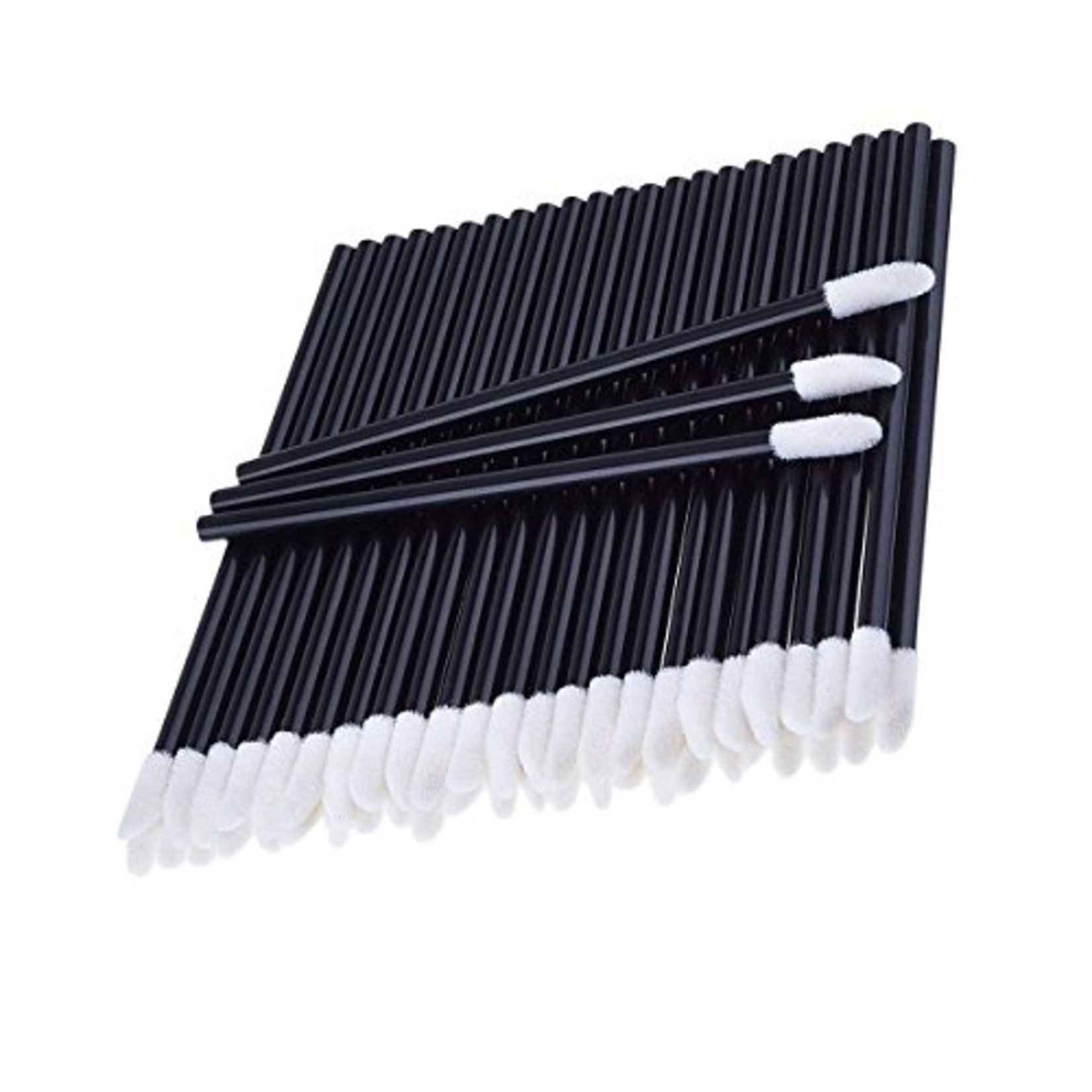 Browguru® Lipgloss Applicator Black 50 Pieces