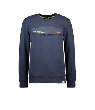 B.Nosy B.Nosy Boys Sweater with fake pocket oxford blue