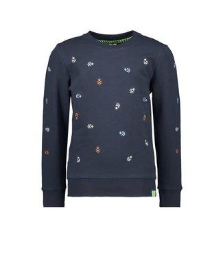 B.Nosy B.Nosy Boys Sweater allover star/stripes oxford blue