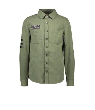 B.Nosy B.Nosy Boys blouse met print army green