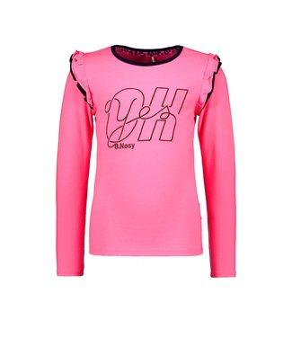 B.Nosy B.Nosy Girls shirt knock out pink