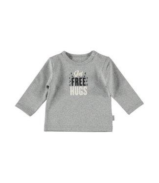 Bess Bess nos shirt free hugs grijs 1040