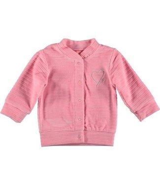 Bess B*E*S*S Meisjes vest velvet striped pink 20293-007