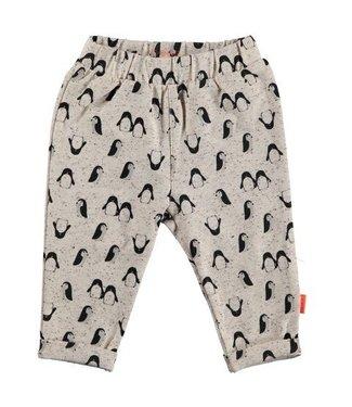 Bess B*E*S*S Unisex broekje penguin AOP sand 20280-050