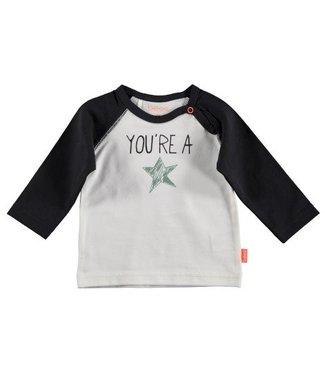 Bess B*E*S*S Jongens shirtje you're a star white 20262-001