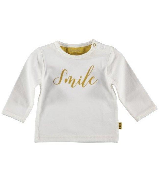 Bess B*E*S*S Jongens shirtje smile white 20239-001