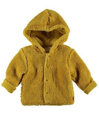 Bess B*E*S*S Jongens/Meisjes vest reversible teddy ocre 20230-039