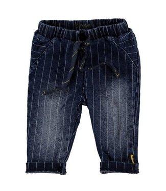 Bess B*E*S*S Jongens broekje denim striped stone wash 20220-021