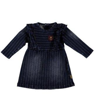 Bess B*E*S*S Meisjes jurkje denim striped stone wash 20217-021