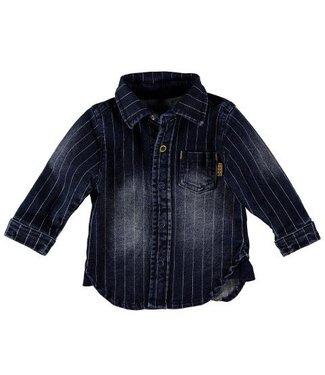 Bess B*E*S*S Jongens blouse denim striped stone wash 20209-021