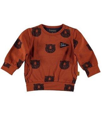 Bess B*E*S*S Jongens sweater AOP tiger rusty 20207-040