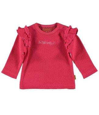 Bess B*E*S*S Meisjes shirtje wafel coral 20205-013