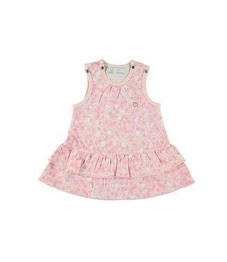Le Chic Le Chic girls jurkje mouwloos daisy powder blush