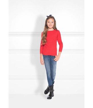 Nik & Nik Nik&Nik girls Harp Pullover poppy red