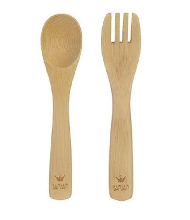 BamBam BamBam bamboe lepel & vork