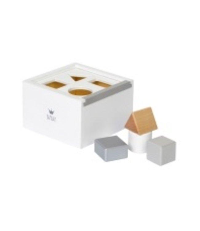 BamBam BamBam wooden block box white