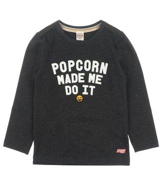 Sturdy Sturdy Popcorn Power longsleeve popcorn zwart melange