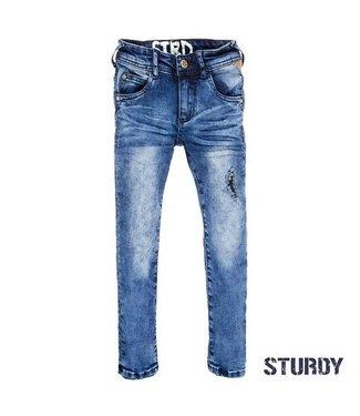 Sturdy Sturdy jeans destroyed blauw denim stretched slim fit