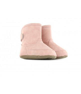Shoesme Shoesme hoge roze babyslofjes met warme voering