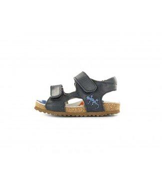 Shoesme Shoesme blauwe sandaal met kurkzool