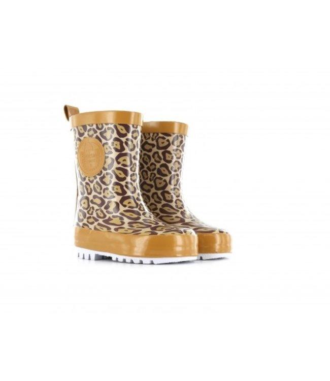 Shoesme Shoesme regenlaars met allover luipaardprint