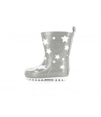 Shoesme Shoesme regenlaars grijs met witte sterren