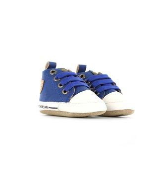Shoesme Shoesme baby proof slofjes kobaltblauw